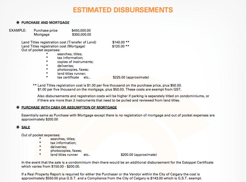 Estimated Disbursements