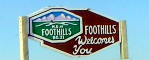 Foothills County Welcome sign
